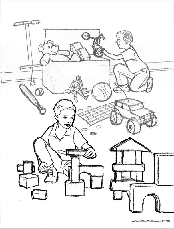 free coloring pages sharing - photo#22